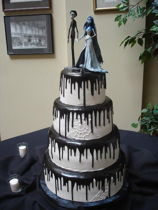 Bánh cưới phong cách Khách sạn huyền bí thế này thiệt tình cũng dọa người lắm nha!