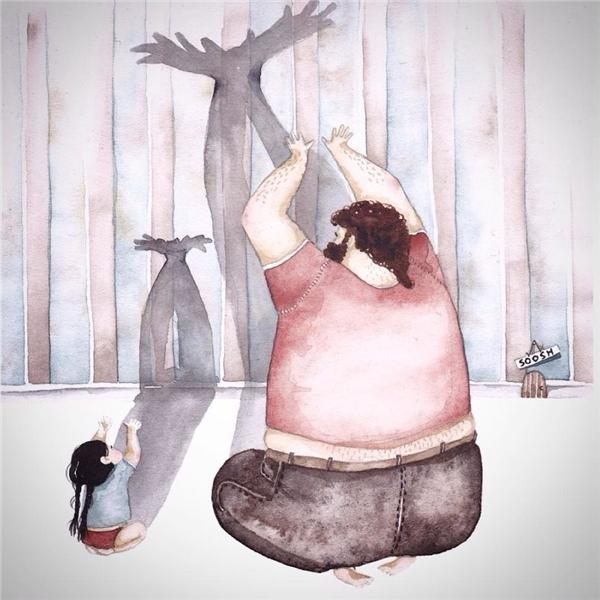 Cha là nguồn cảm hứng, là cả bầu trời tưởng tượng của con.(Ảnh: Intermet)