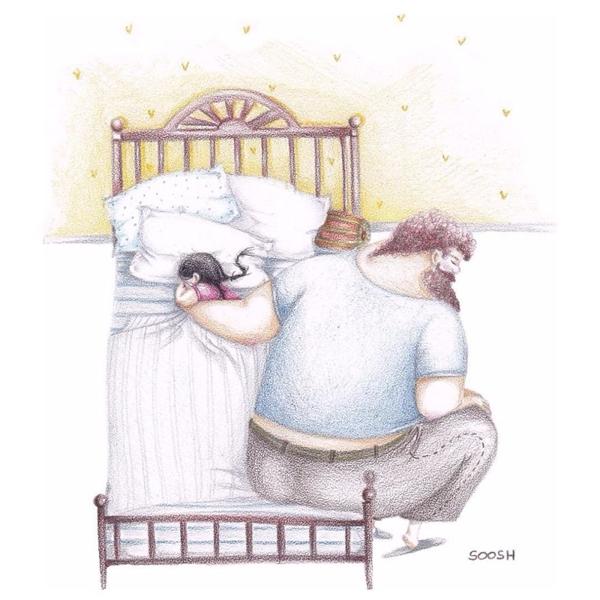 Đúng vậy, cha dành cả cuộc đời của mình để bảo vệ và yêu thương con. (Ảnh: Intermet)