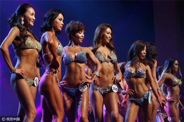 Những hình ảnh trong cuộc thi Mỹ nhân cơ bắp ở Hàn Quốc
