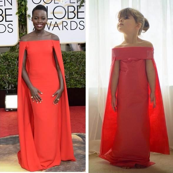 MayhemKeiser mô phỏng chiếc váy Ralph Lauren doLupita Nyong'o mặc. (Ảnh: Internet)