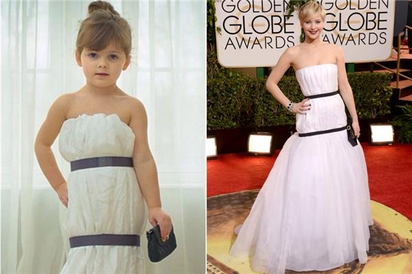 Thật kì diệu khi MayhemKeiser có thể tự tay làm lại chiếc váy trắng Dior mà Jenifer Lawrence đã mặc trong buổi lễ trao giải Quả cầu vàng một cách chính xác. (Ảnh: Internet)