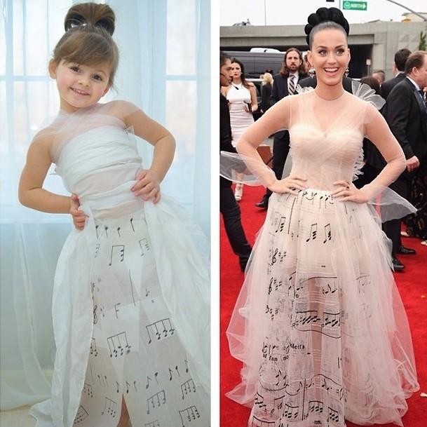 Còn đây là bộ vày củaValentino Haute Couture mà Katy Perry diện hôm trao giải Grammy. (Ảnh: Internet)
