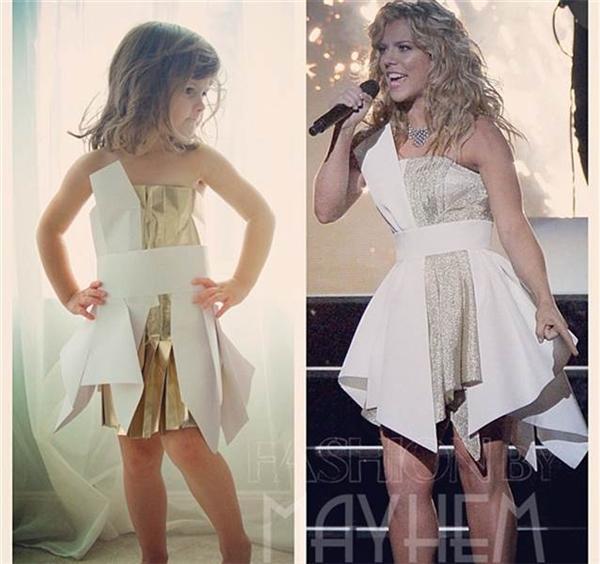Chiếc váy Kimberly Perry mặc trong lễ trao giải CMA năm 2013 phiên bản mini. (Ảnh: Internet)