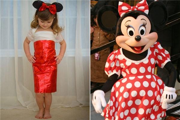 Trang phục lấy ý tưởng từ biểu tượng hoạt hình của Disney - chuột Minnie. (Ảnh: Internet)