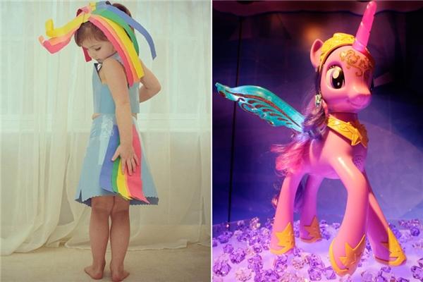 Chiếc váy nhiều màu như Pony. (Ảnh: Internet)