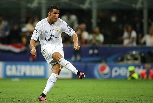 Ronaldo thực hiện thành công quả 11 mét giúp Real giành chức vô địch Champions League.Ảnh: Getty Images.