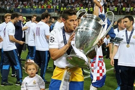 Dấu ấn của James Rodriguez mùa này khá mờ nhạt. Anh không ra sân ở trận chung kết.
