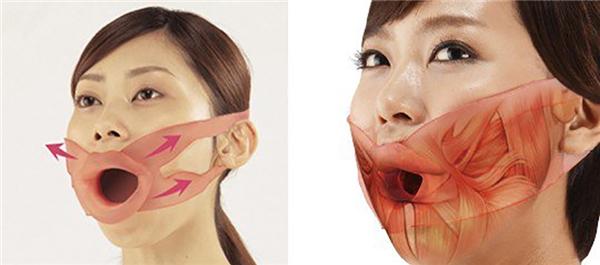 Theo nhà sản xuất, việc dùng dụng cụ này 10 phút mỗi ngày sẽ giúp cơ mặt bạn săn chắc hơn. Không rõ việc đó có thực hay không nhưng khách hàng hẳn phải rất dũng cảm mới dám đeo tập luyện. (Ảnh: Internet)