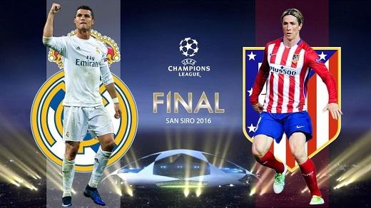 """Cristiano Ronaldo (2,5/5):Bỏ qua 120 phút thi đấu mờ nhạt trên SVĐ San Siro, siêu sao người Bồ Đào Nha khiến CĐV Real vỡ òa khi thực hiện cú sút penalty quyết định đem về chức vô địch châu Âu thứ 11 cho đội bóng Hoàng gia. Fernando Torres (3/5):Dù rất nỗ lực nhưng """"El Nino"""" vẫn không thể giúp Rojiblancos đánh bại kình địch cùng thành phố ở trận chung kết Champions League năm nay."""