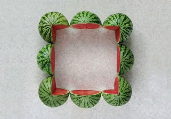 10. Những quả dưa hấu đều tăm tắp.