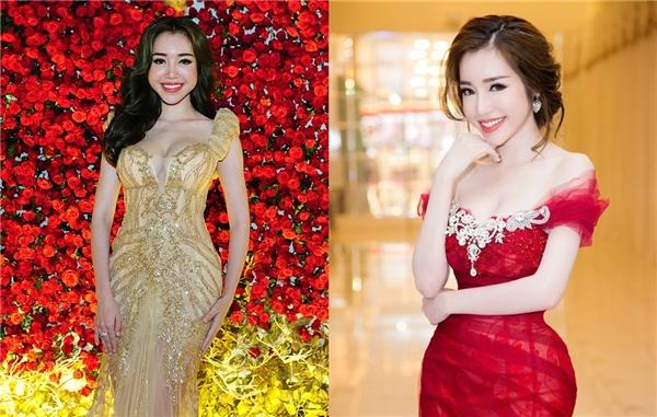 Nhìn hai bức ảnh này, không khó để nhận ra Elly Trần đã dùng công nghệ để phù phép cho gương mặt đầy đặn hơn và cân đối hơn. Trên thực tế, hai phần má và cạnh hàm của cô bị phình to ra tạo nên khung xương có phần vuông vức, góc cạnh.