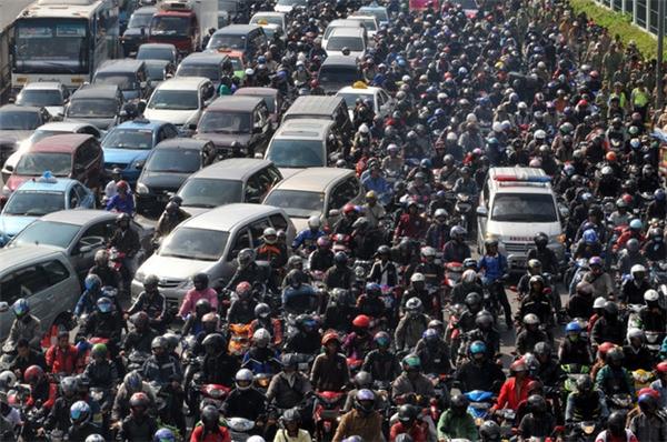Jakarta là một trong những thành phố kẹt xe rất kinh khủng.