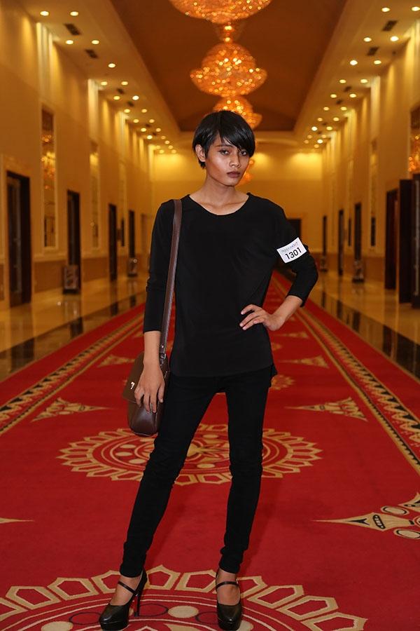 Chau Kim Sang mong muốn được sống với giới tính thật của mình nên diện trang phục như nữ giới và mang giày cao gót đến tham gia casting.