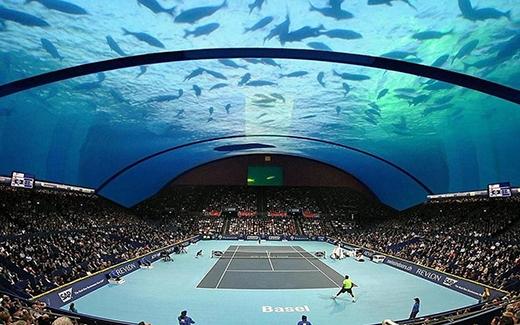 Sân vận động ở Dubai phải được xây độc đáo như thế này mới tạo cảm hứng cho các đại gia chơi. (Ảnh: Internet)
