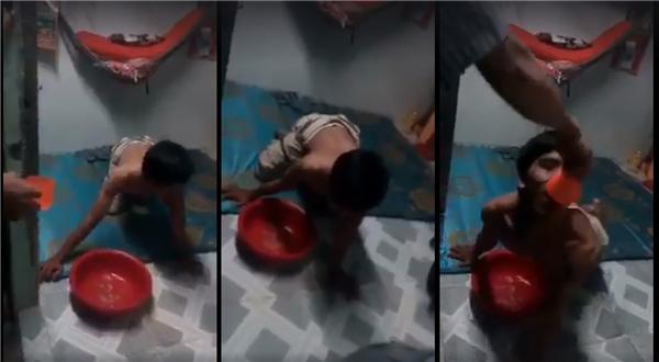 Tình trạng của người thanh niên trong đoạn clip thật sự rất nghiêm trọng. (Ảnh cắt từ clip)