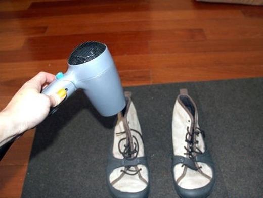 Giày cotton, giày vải hay giày đế cói có thể dùng máy sấy sấy khô