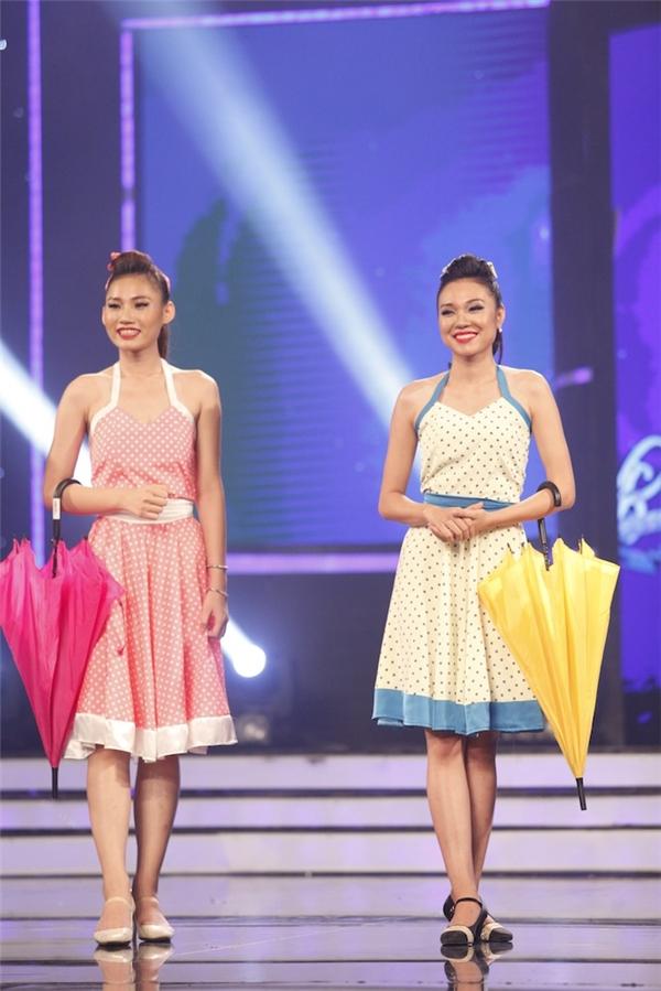 Bộ đôi Quỳnh Như, Việt An mang đến tiết mục nhảy hiện đại sôi động, vui nhộn.