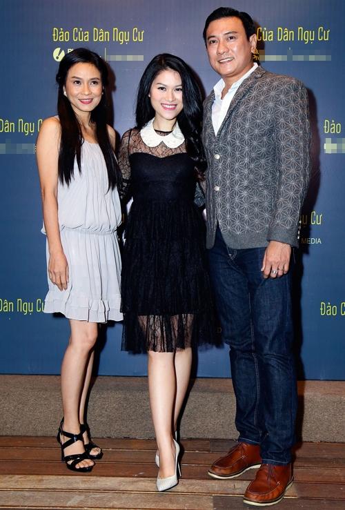 Ngọc Thanh Tâm cũng chia sẻ cô cảm thấyrất vui trướccơ hội làm việc với hai gương mặt kìcựu của điện ảnh Việt Nam.