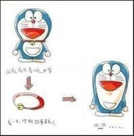 Thêm một điều nữa, nếu như tháo vòng cổ ra thì Doraemon ta sẽ có hình dạng như thế nào?