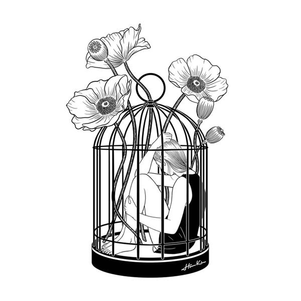 Trong tình yêu, những người phụ nữ an phận cũng giống như bị giam cầm trong chiếc lồng được trồng hoa. Nếu không muốn mình suốt đời phải trải qua những tháng ngày bó hẹp, phụ nữ phải biết đứng dậy bẻ vỡ những thanh sắt đang giam lỏng cuộc đời mình do chính mình tạo ra từ sự an phận. (Ảnh: Internet)