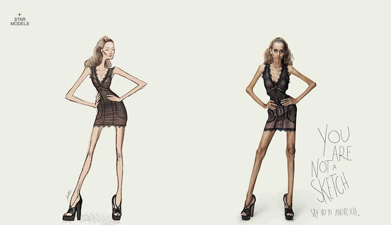Đừng tin vào những bức vẽ mẫu của các nhà thiết kế thời trang, cũng đừng lấy những người mẫu catwalk làm hình mẫu cho cơ thể mình, bạn chỉ tự hãm hại bản thân mà thôi.