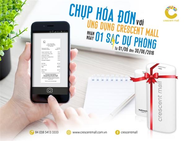 Chương trình khuyến mại mua sắm và nhận quà tháng 6/2016 của Crescent Mall.