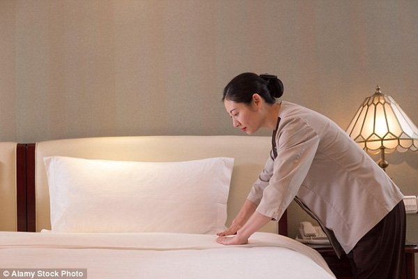 Những ga trải giường trắng tinh đều được sử dụng lại.