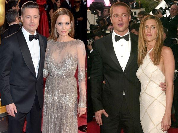 """Thời điểm Angelina Jolie và Brad Pitt gặp nhau trên phim trường """"Mr. & Mrs. Smith"""" là vào năm 2004, khi Brad vẫn đang là chồng của Jennifer Aniston. Ngay năm sau đó, Brad và Jennifer đã ly dị, anh công khai đến với Angelina. Sau này, Angelina thừa nhận """"Mr. & Mrs. Smith"""" là bộ phim khiến cô và Brad Pitt nảy sinh tình cảm, còn Brad dùng từ """"nhàm chán"""" để nói về cuộc hôn nhân của anh với Jennifer. Việc """"cắm sừng"""" Jennifer của cặp đôi Brangelina đã khiến cho họ chịu nhiều tai tiếng suốt một thời gian. Hiện giờ, Brad và Angelina vẫn đang hạnh phúc sau hơn 10 năm bên nhau. Mặc dù có một số tin đồn rạn nứt gần đây, nhưng những tin đồn vẫn chưa được xác thực."""