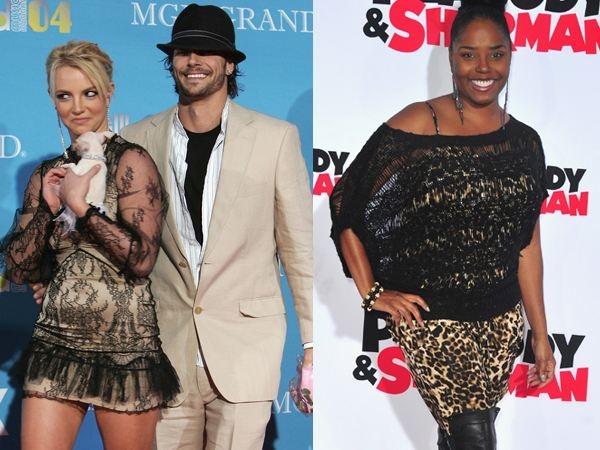 """Nữ diễn viên Shar Jackson (phải) từng đính hôn với vũ công Kevin Federline trước khi Britney Spears xuất hiện vào năm 2004. Shar Jackson thậm chí đang mang thai con của cô với Kevin Federline vào thời điểm anh bỏ cô để theo Britney Spears. Khi chia sẻ về việc để mất chồng chưa cưới, Shar Jackson nói: """"Đó không chỉ như việc phá vỡ một mối quan hệ, mà giống như phá tan một gia đình vậy"""". Sau khi kết hôn, Britney Spears và Kevin Federline có hai con trai, cặp đôi chung sống đến năm 2006 thì chia tay."""