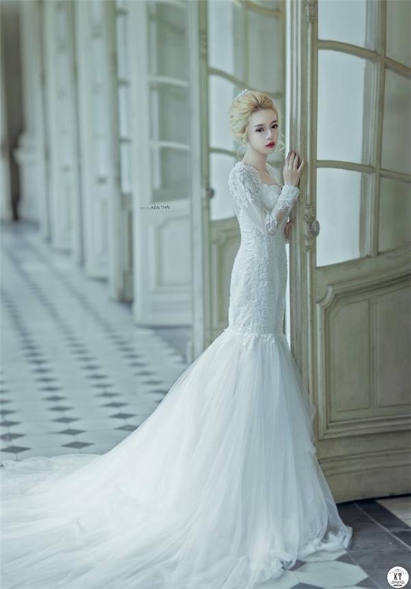 Khá nhiều studio áo cưới đã tìm đếnThanh Nhãđể kí hợp đồng chụp mẫu ảnh. (Ảnh: Internet)