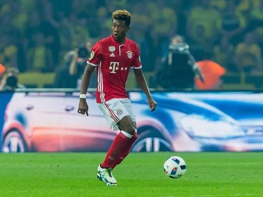 David Alaba là chốt chặn số một ở hàng thủ Bayern Munich