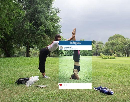 Sự thật phũ phàng sau tư thế yoga đẹp.(Ảnh: Internet)