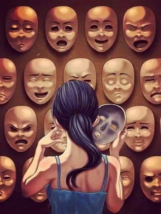 Con người có quá nhiều bộ mặt trong cuộc sống này. Bạn phải chắc chắn rằng, bản chất và tâm hồn bạn vẫn còn nguyên vẹn dù có bao nhiêu bộ mặt phải mang đi chăng nữa.