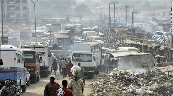 Thành phố cảng này nằm ở miền nam Nigeria và có mức ô nhiễm cao gấp 30 lần giới hạn cho phép của WHO.