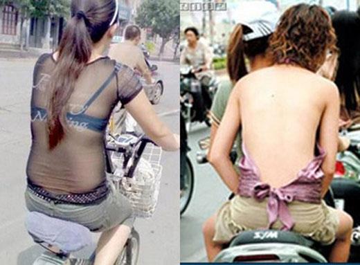 Thời trang mặc cũng như không. Các cô gái ngày càng táo bạo và ăn chơi.