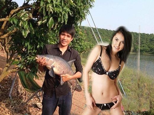 Hóa ra động lực giúp anh chàng câu được con cá to đến thế là nhờ người đẹp Maria Ozawa.