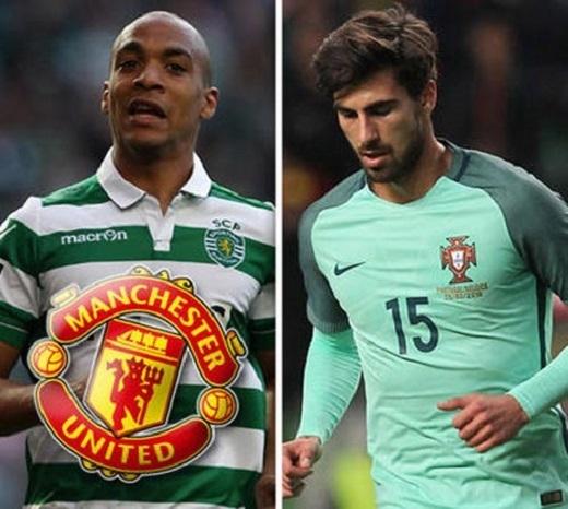 Joao Mario (trái) vàAndre Gomes (phải) đang là 2 mục tiêu được MU theo đuổi để tăng cường tuyến giữa