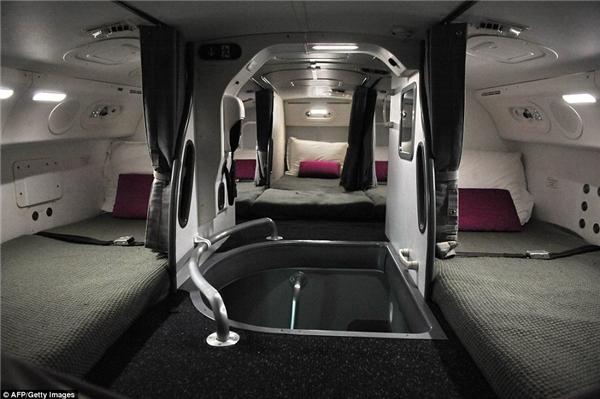 cabin nghỉ ngơi của tiếp viên hàng không