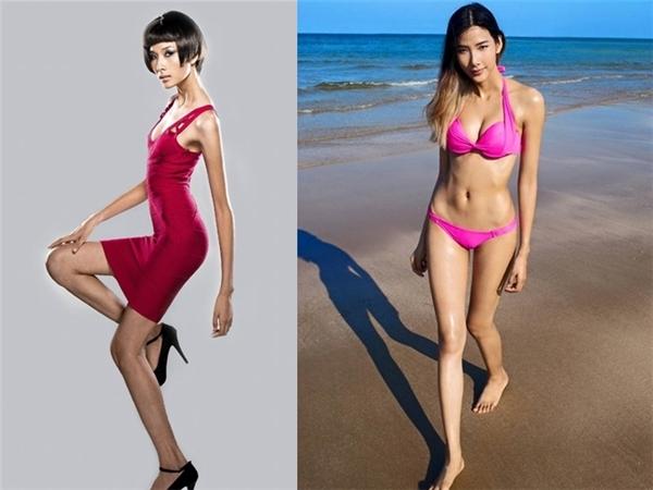 """Hoàng Thùy là một trong những minh chứng về việc """"càng béo thì lại càng xinh"""". Quán quân Vietnam's Next Top Model giờ đây đã có vóc dáng đẫy đà, săn chắc đầy sức sống, khác hẳn với thân hình """"cò hương"""" năm nào. - Tin sao Viet - Tin tuc sao Viet - Scandal sao Viet - Tin tuc cua Sao - Tin cua Sao"""