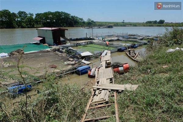 Khu vực lồng nuôi cá nhà anh Thủy - nơi xảy ra sự việc đau lòng.