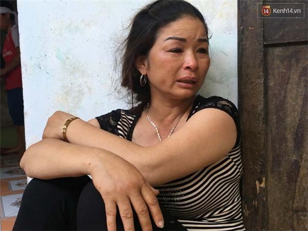 Chị Lưu đau đớn khi mất đi em trai và cháu ruột.