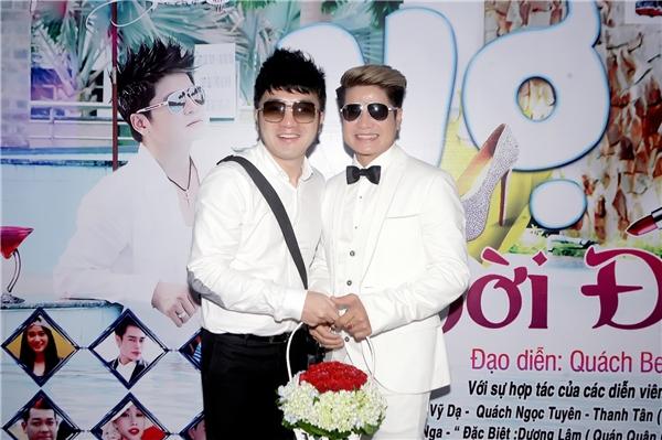 Dương Ngọc Thái đến chúc mừng sản phẩm âm nhạc mới của Lương Gia Huy.