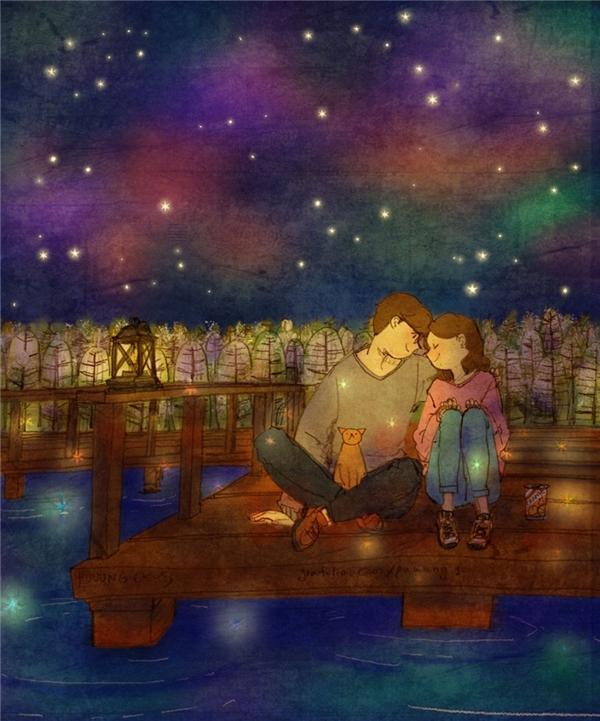 Bộ tranh khiến bạn tin rằng tình yêu có mùi vị ngọt ngào như kẹo