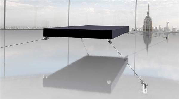 Giường độc đáo này có thể bay lơ lửng cách mặt đất vài cm.