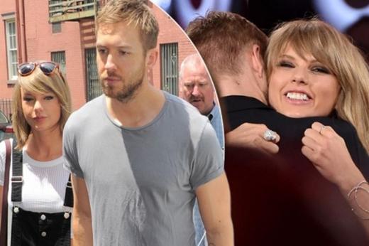 Taylor Swift và Calvin Harris khi còn bên nhau.