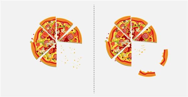 Có ai hay chừa lại phần cùi bánh pizza toàn bột không?