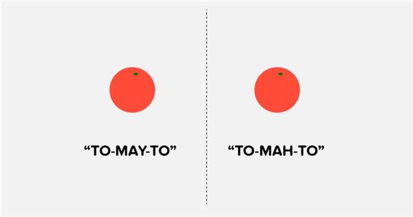 """Bạn phát âm từ """"tomato"""" theo kiểu nào?"""