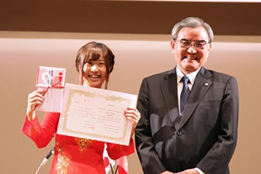 Nara Honioi giành được giải nhất tại cuộc thi. (Ảnh: Internet)