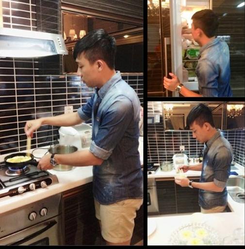 Dù không quá khéo tay như phụ nữ nhưng Trấn Thành có thể tự nấu món ăn mình yêu thích. - Tin sao Viet - Tin tuc sao Viet - Scandal sao Viet - Tin tuc cua Sao - Tin cua Sao